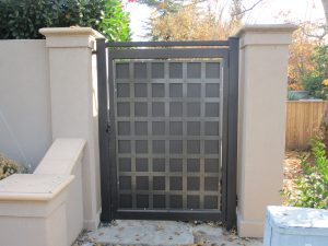Privacy-fence-gate-installation